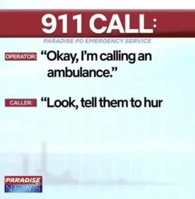 Chaotic 911 call