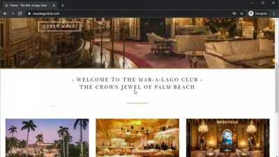There's a link to 123movies on the Mar-a-Lago Club website. If you zoom in, it's a hyperlink that clearly says