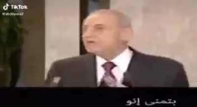 Whatever Nabih Berri does, you will always find a video of him in the past calling to do exactly the opposite.