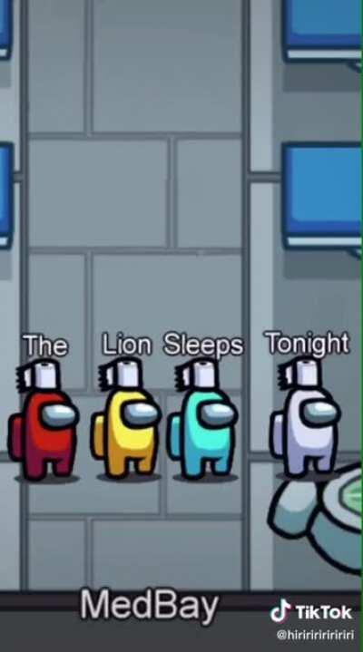 Among us - The Lion Sleeps Tonight