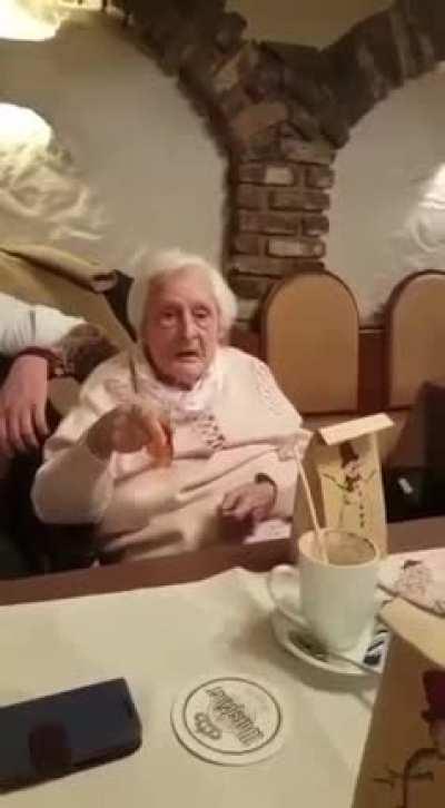 Confused granny nazi
