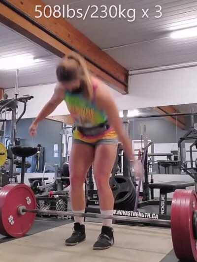 Canadian powerlifter Jessica Buettner [gif]