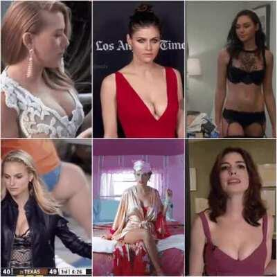 Battle Of My Favourite Top 6 : Scarlett Johansson vs Alexandra Daddario vs Gal Gadot vs Natalie Portman vs Taylor Swift vs Anne Hathaway
