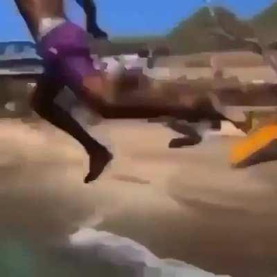 This scary dive!
