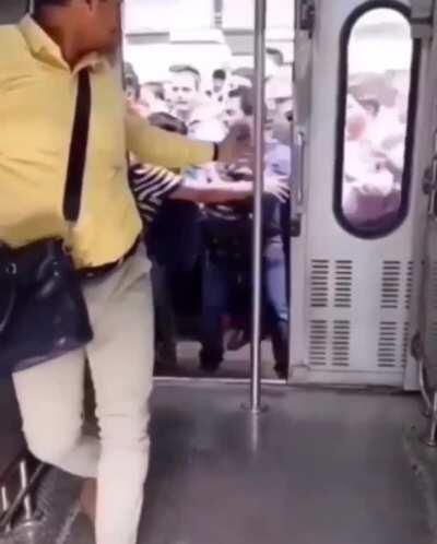 When you're late for work and the train is about to take off