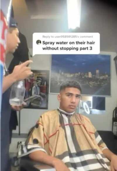 Barber pranks his customer