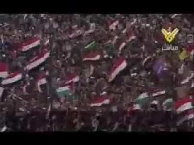 beloved big boi bashar at rally with the syrian people