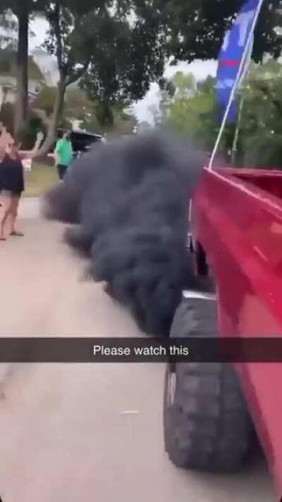 Rolling coal is trashy