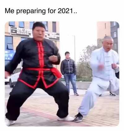 For 2021, prepare yourself like Chinese kung fu master Wei Yaobin and his students out of Luoyang, Henan Province.