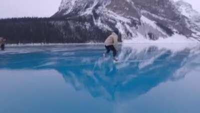 The other day Lake Louise flash froze and created possibly the most beautiful ODR I've ever seen.