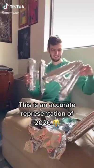 2020 be hitting different, Credit to memezar on TikTok