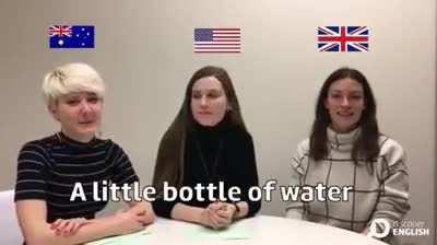 A little bottle of water
