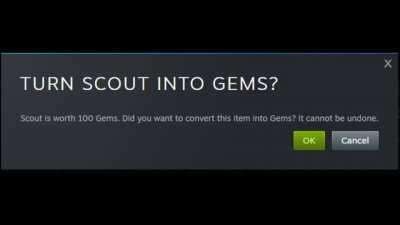 Scout really do be turned into gems