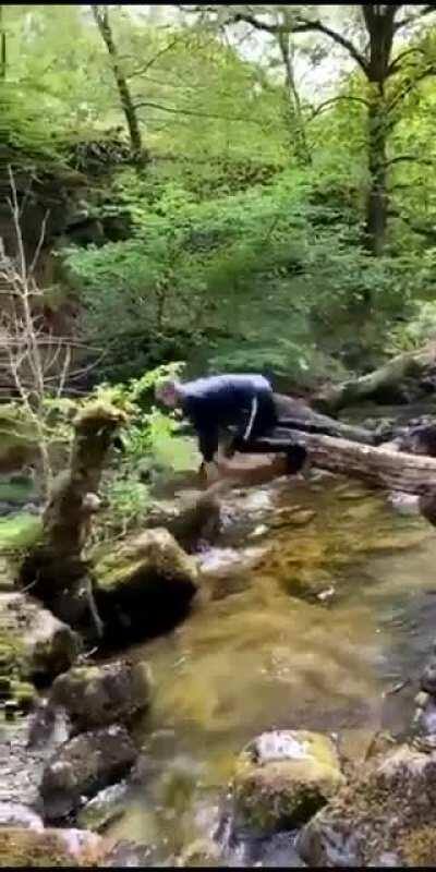 WCGW trying to cross a river