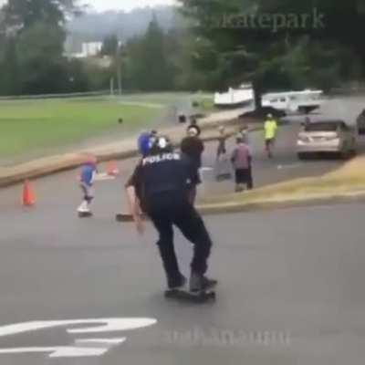 Running from the cops