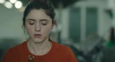 Natalia Dyer can't help but get turned on when watching a dick get sucked