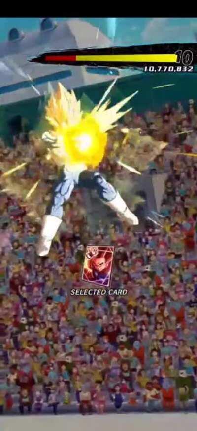 80 million rising rush mission (bardock+any super Saiyan+ex mai i got 120,000,000 damage)