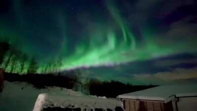 Insane Aurora Borealis Dancing In the Sky, Senja, Norway