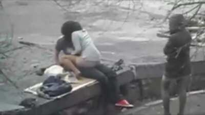 Waiting for her friend [gif]