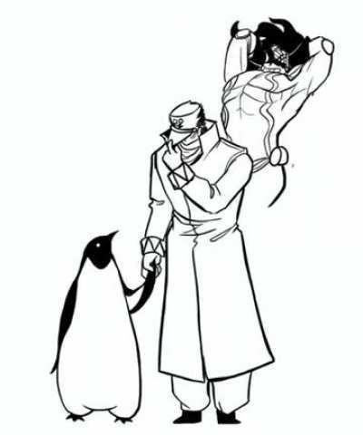 Jotaro with penguin