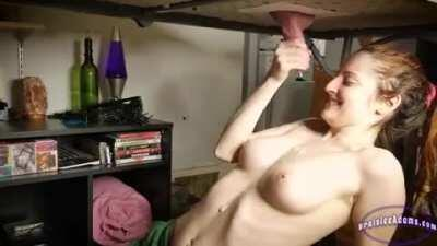 Gloryhole delivers a massive cum shot on her chest
