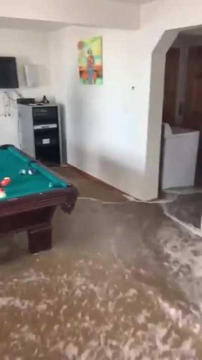 Playing pool in an unwanted pool