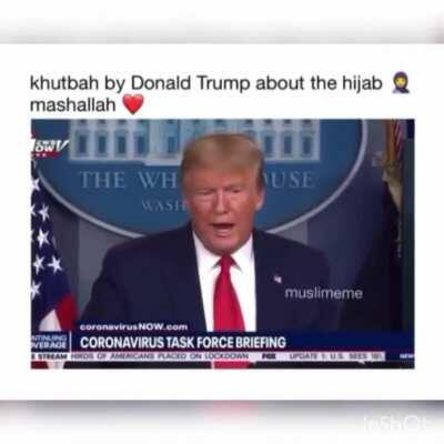 MashaAllah brother donald ibn trump