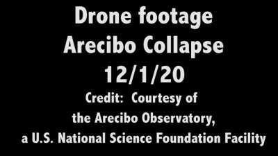 Видео разрушения Аресибо с разных ракурсов