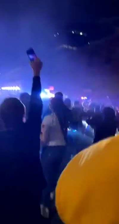 Close up footage of the cop running over a crowd in Tacoma, WA.