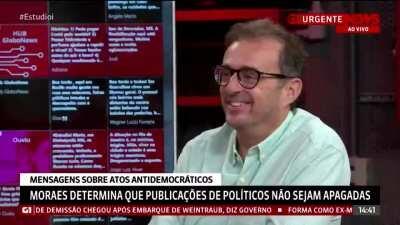 O clima pesou tanto na Globo News hoje que até eu fiquei com vergonha