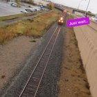 Why you don't stand around the train tracks.