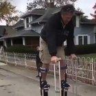 Using stilts for the first time