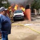 rushing past firefighters onto your burning house, to save your dog.
