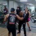 Fighter tries to show the coach up