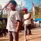 Dad Almost Kicks Son's Head Off