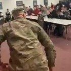 This is America. Teacher surprises his students after returning from Afghanistan