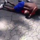 Guy knocks himself out during fight