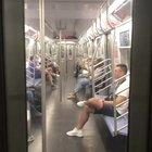 4th of July Fireworks in NYC as seen from a moving Subway