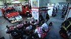 Croatian Firefighters deploying during a football match.
