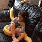 Just a 12ft snake chillin with its pet human
