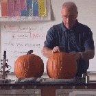 Science Teacher Wows Students With Exploding a Pumpkin to Reveal Carving