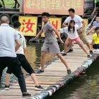 Chinese water bridge swing battle