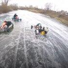 Ice karting in Russia is basically real life Mario Kart