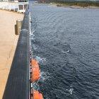 A rotary sail using the Magnus effect to propel the cruise ship M/S Viking Grace.