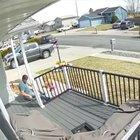 Kid gets hit by a car while dad isn't watching